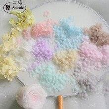 200PCS Multicolor DIY Handmade 3D Organza Flower DIY Wedding Dress Veil Mini Flowers Baby Clothes Ma