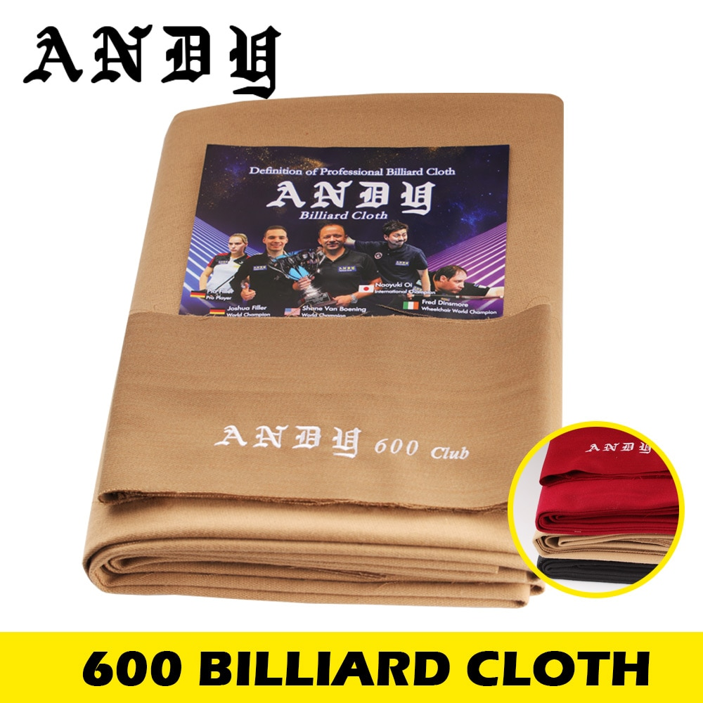 ANDY 600 High Quality Billiard Pool Table Cloth for 70% Wool 30% Nylon Professional Billiard Accessories Table Cloth Club use