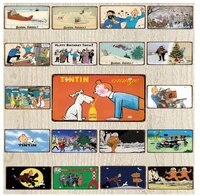 30X15CM Lamour Tintin Dessin Anime Drole Comique Vintage Metal Signe Plaque Pour Art Mural Enfants Chambre Boutique Cinema Maison Artisanat Decor DC-1278A