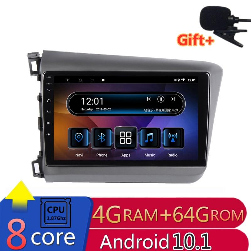 2 din 8 core android coche radio estéreo para coche para honda civic 2012, 2013, 2014, 2015 navegación GPS DVD Multimedia Player 4gb ram