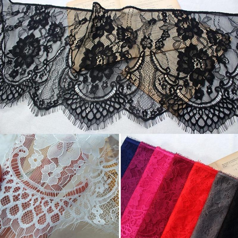 6 metros/lote 27cm ancho colores pestañas adornos de encaje tela flor manualidades vestido de novia ropa sujetador encaje hecho a mano