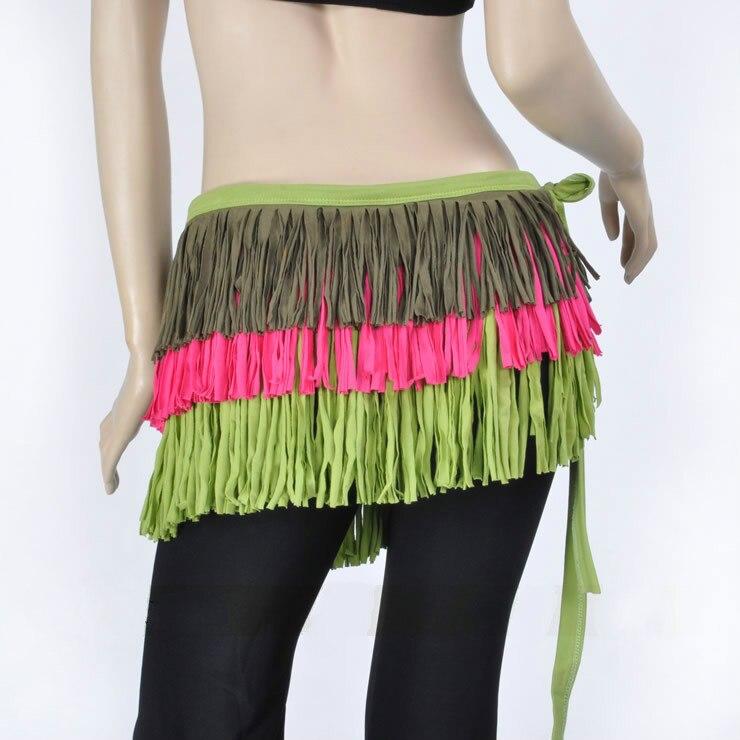 Belly Dance Clothes Accessories 3 Layers Wrap Hip Scarf Tassel Women Belly Dance Tassel Belt