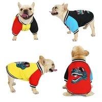 warm fleece dog clothes autumn winter pet print jacket coat chihuahua french bulldog pug small medium large dogs vest clothing