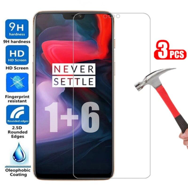 Фото - Защитное стекло 9H для экрана Oneplus 6 1 + 6 One Plus 6 Защитное стекло для телефона, защитное закаленное стекло для oneplus 6 One plus6, 3 шт. защитное стекло