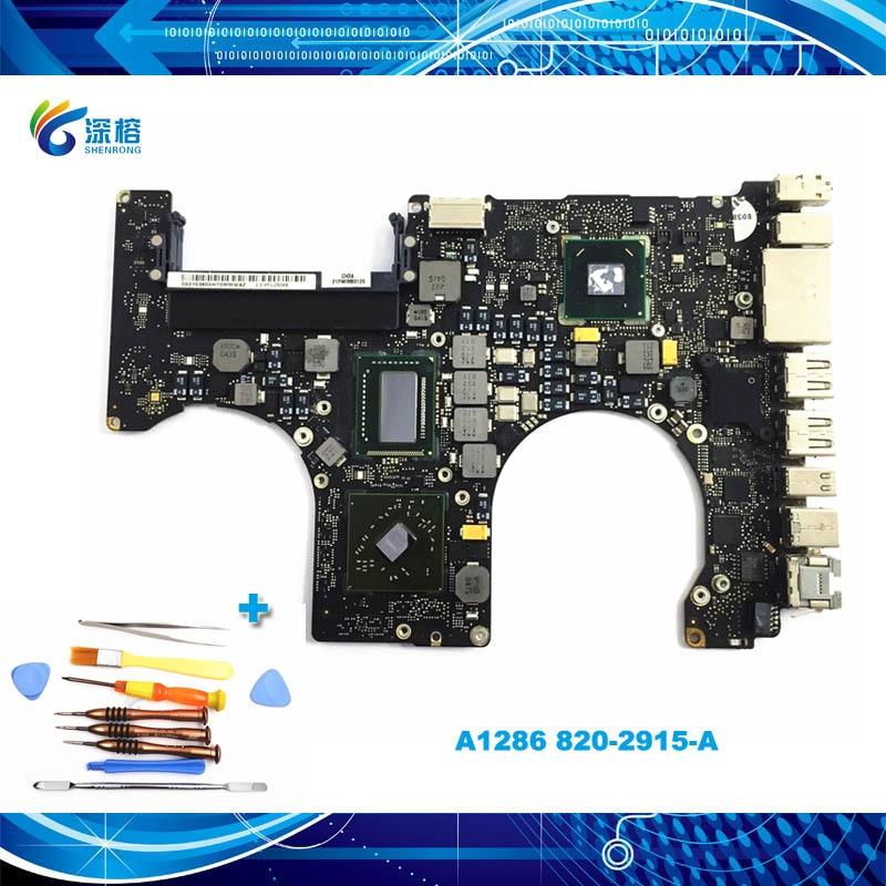 "A1286 placa base para Macbook Pro 15,4 ""Logic Board 2,0 ghz 2,3 ghz 2,4 ghz 2,5 ghz 2011 Año 820-2915-A"