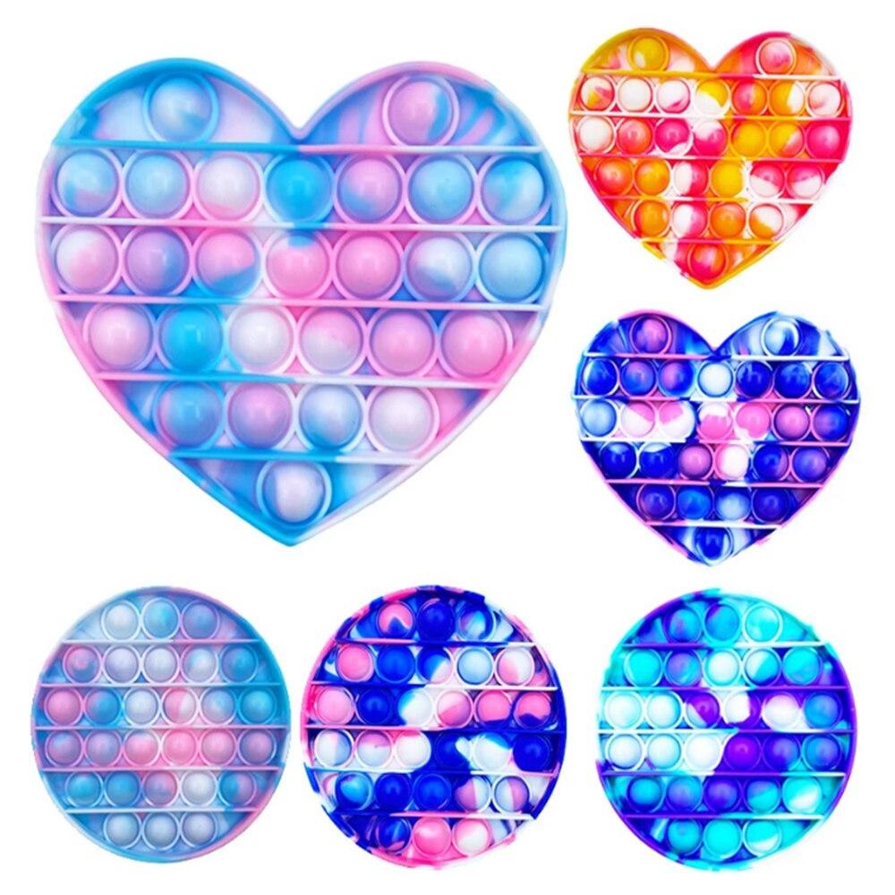Fidget Toys Anti Stress Push Pop It Bubble Sensory Rainbow Fidget ToyRestore Emotions Stress Relieve