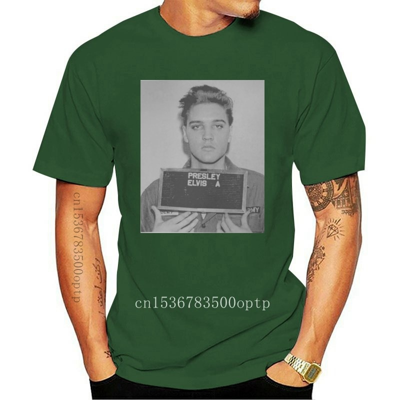 New Elvis Aaron Presley Mugshot King Of Rock 80' Prison Men Women Unisex T-Shirt 20 Stylish Custom Tee Shirt