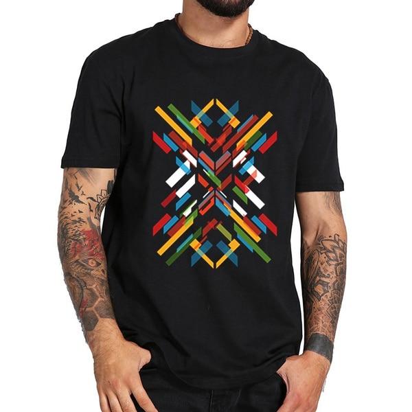 Фрактальный узор абстрактная футболка XS-футболка Прямая поставка футболка модная футболка Топ Футболка Горячая Мода