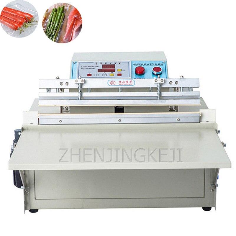 ماكينة تعبئة وتغليف وتفريغ الهواء بجهد خارجي 220 فولت ماكينة كهربائية أوتوماتيكية تجارية طعام خضروات ماكينة لصق الفواكه المجففة