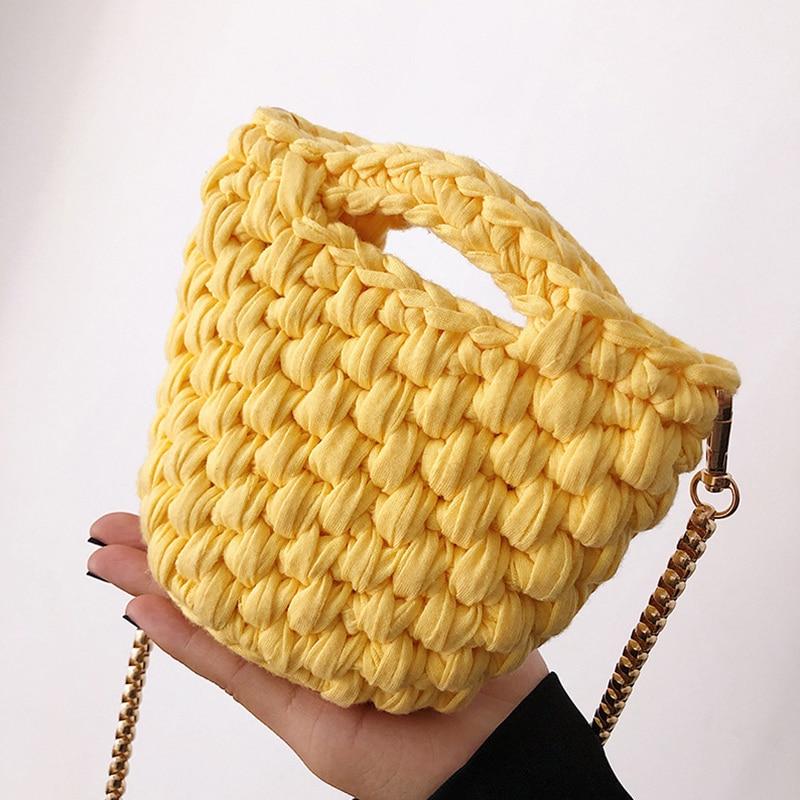 Mini monedero informal tejido a mano, bandolera para mujer, bolso tejido de ganchillo para mujer, pequeño bolso de hombro para mujer, bolso bandolera para mujer