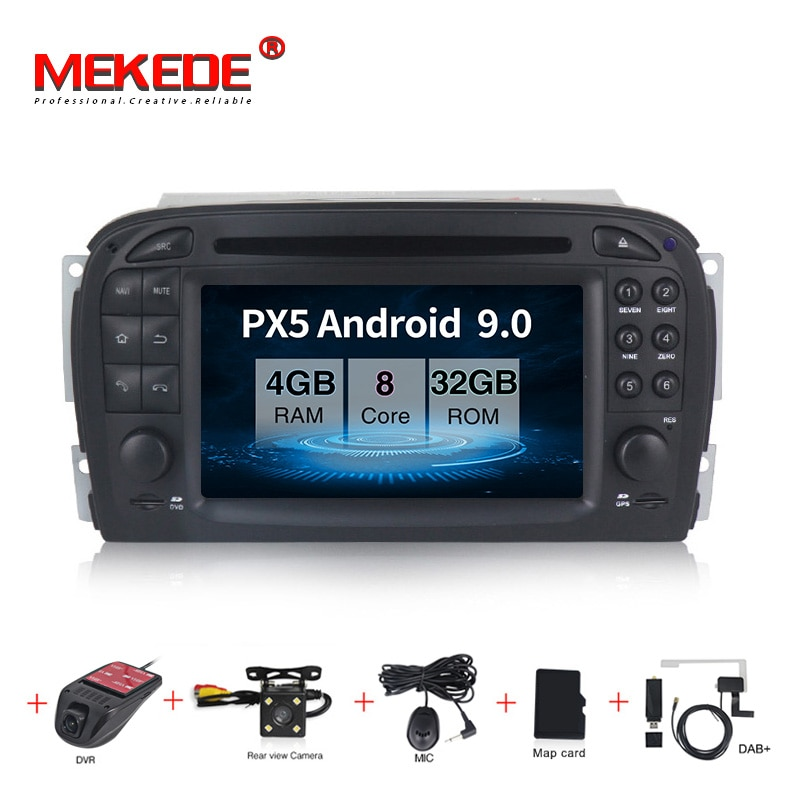 MEKEDE PX5 4 + 32G android 9,0 navegación GPS con DVD para coche reproductor para Mercedes Benz clase SL SL350 auto radio Multimedia estéreo 8 core