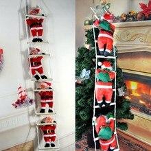 Échelle de montée pour noël père noël   Décorations suspendues pour arbre de noël, ornements pour arbre de noël, cadeaux de nouvel an, décor pour la maison