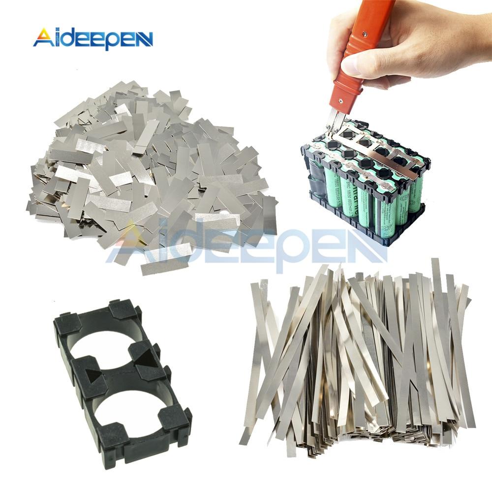 Tira de acero niquelado hoja de tira de placa de níquel para soldadora de punto de batería 18650 con soporte de 1x2