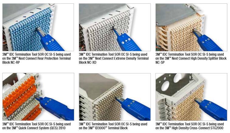 Black 3M IDC Termination tools C234056 wire cutter SOR OC SI-S / SOR OC PKSI-S enlarge