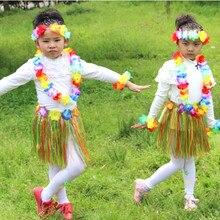 A Set Counts Tropical Hawaiian Luau Flower Lei Party Favors Wreath Hawaiian Style Festival Decoration L*5