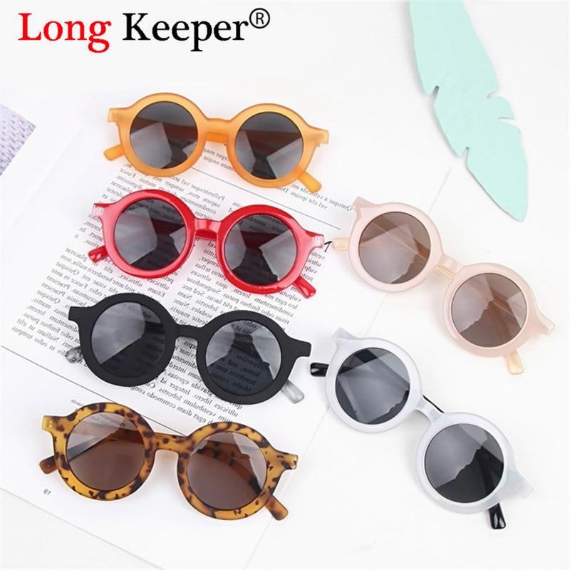 2019 gafas de sol redondas de moda para niños, gafas para niños y bebés, gafas de sol Anti-UV, gafas coloridas UV400