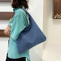 high capacity tote jeans bag vintage denim bag women simple elegant hobos casual daily shopper bags luxury designer handbag 2021