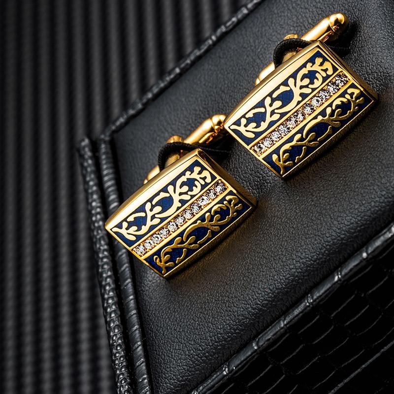 KFLK jewelry Fashion shirt cufflinks for mens gift Brand cuff links buttons Design High Quality abotoaduras gemelos guests