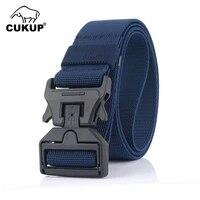 cukup 2020 new design quality elastic belt magnetic buckle leisure multi colors optional nylon belts men 125cm size cbck200