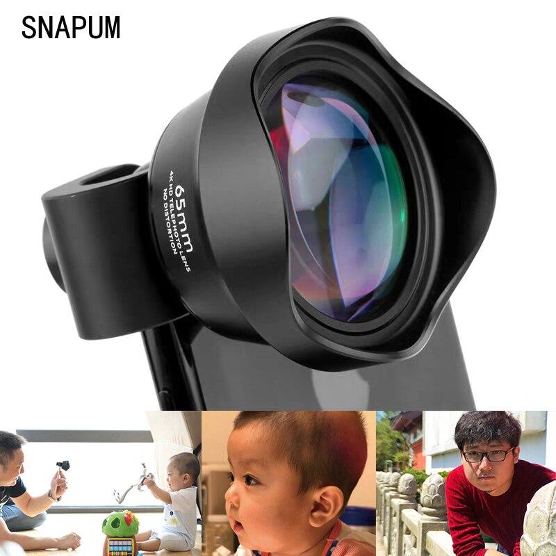 SNAPUM-عدسة خارجية عالمية للهاتف الخلوي ، 65 مللي متر ، صورة ، 3X telephoto SLR ، تصوير احترافي ، فتحة كبيرة
