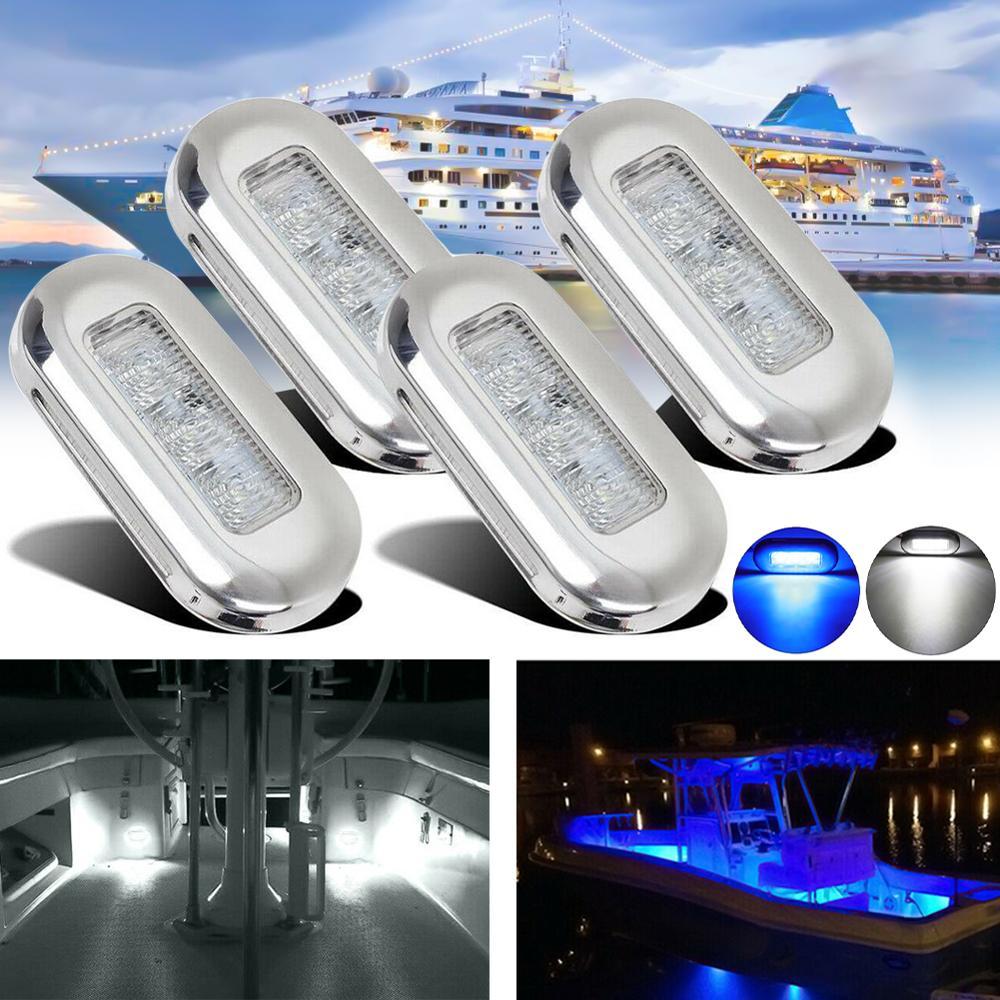 Боковой габаритный фонарь 4x, 3 светодиода, 12 В, для лодки, лестничная площадка, индикатор поворота, аксессуары для лодки, задсветильник онарь