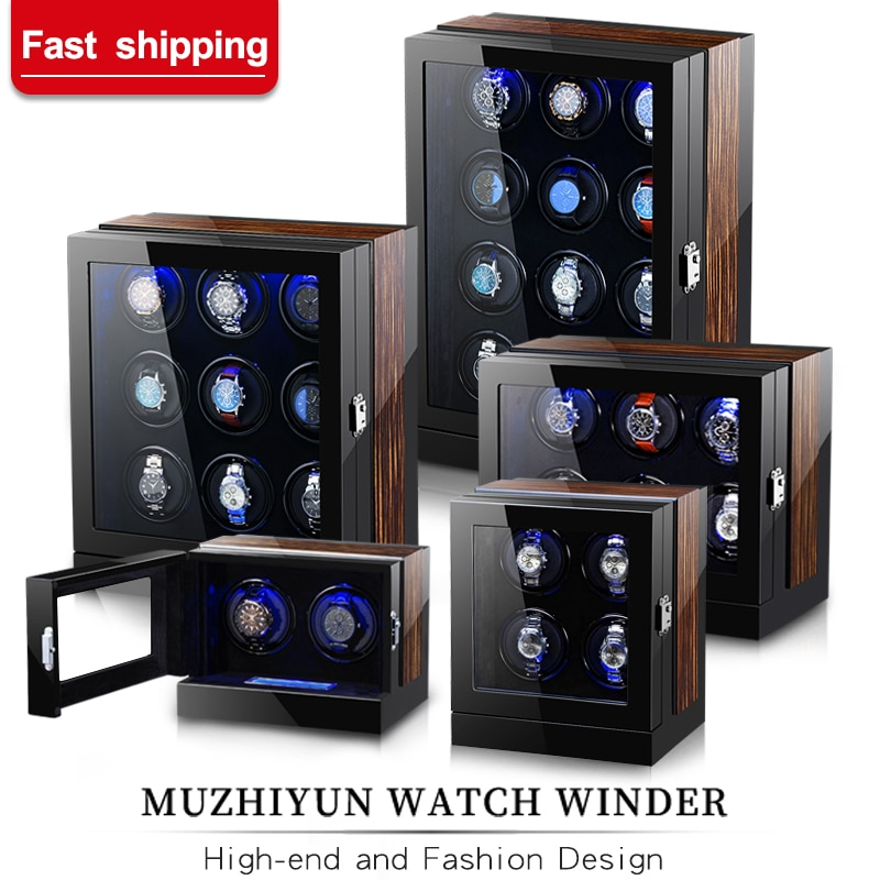 Automatic Luxury Watch Winder Box Accessories Display Mechanical Rotating Uhrenbeweger Velvet or Leather for Men