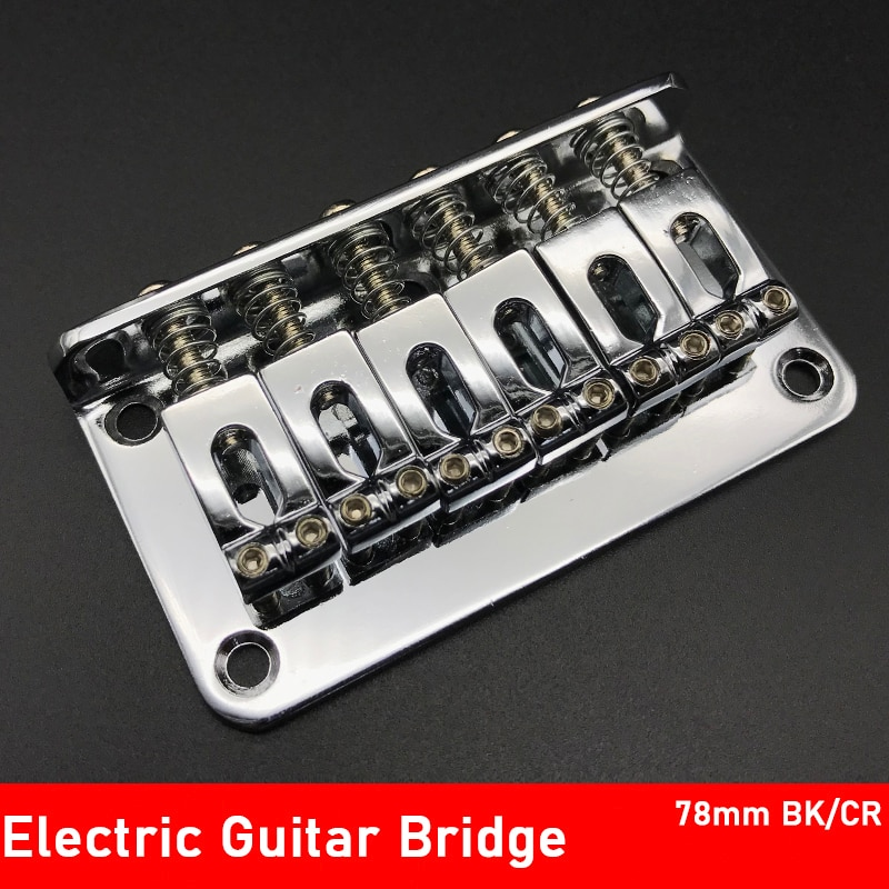 6 sela hardtail ponte carga superior 78mm ponte da guitarra elétrica com parafusos pesados acessórios guitarra