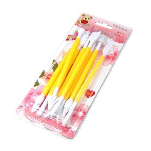 WSFS Hot ire Kit de herramientas de modelado para decoración de pasteles Sugarcraft 8 piezas amarillas