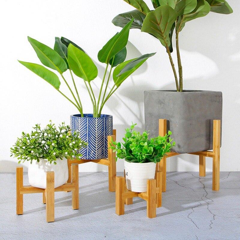Soporte de madera duradero para plantas, soporte para macetas, soporte para macetas, estante de exhibición para plantas en maceta para interiores y exteriores