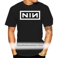 nine inch nails new black t shirt nin kmfdm deftones cartoon print short sleeve t shirts