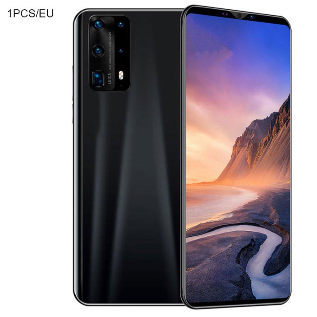 ثنائي النواة P40 برو الهاتف الذكي شاشة 5.8 بوصة الهاتف الذكي 512 متر + 4G أندرويد الهاتف الذكي ثلاثية الأبعاد الزجاج مطلي الغطاء الخلفي الأسود