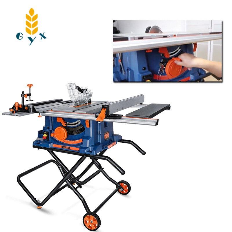 Sierra de mesa de carpintería de 10 pulgadas, máquina de corte de sierra multifunción sin polvo, sierra ingleteadora para el hogar, herramienta eléctrica de 2000w 220V-50Hz