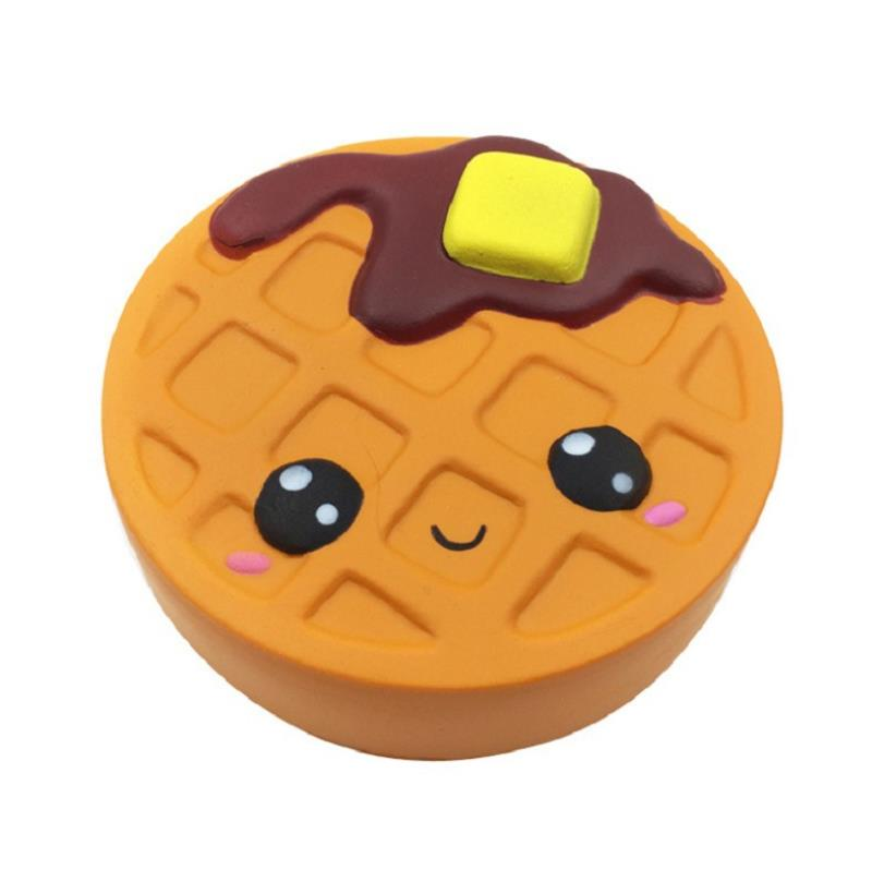 Cute Simulation Chocolate Biscuit Pizza Bread Squeeze Toy Scented Stress Relief for Kid Fun Gift Toy enlarge