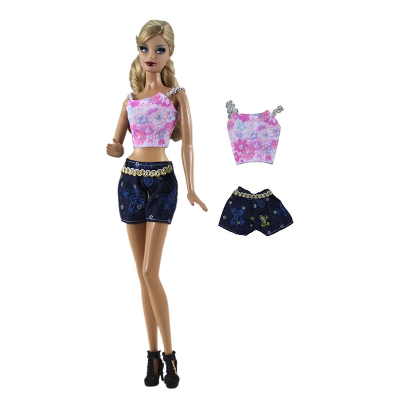 Handmade Summer Outfit Set Clothes for Barbie 1/6 Fashion Royalty BJD Doll Accessories Play House Dressing Up Girl Toys