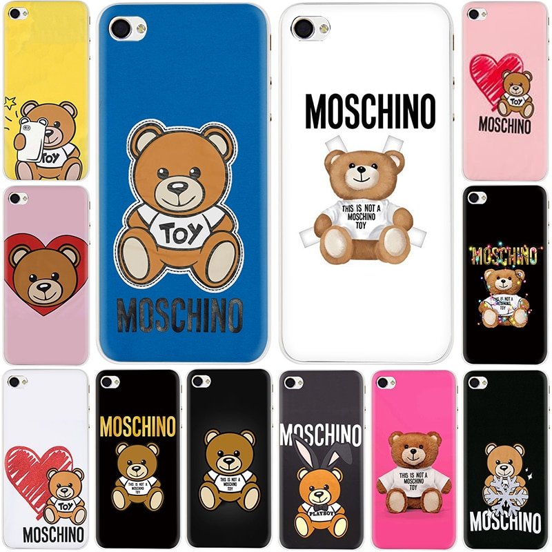 Popular carcasa de plástico duro de oso italiano para iPhone 5 5S SE 2020 6 6s 7 8 plus X XR XS 11 Pro Max