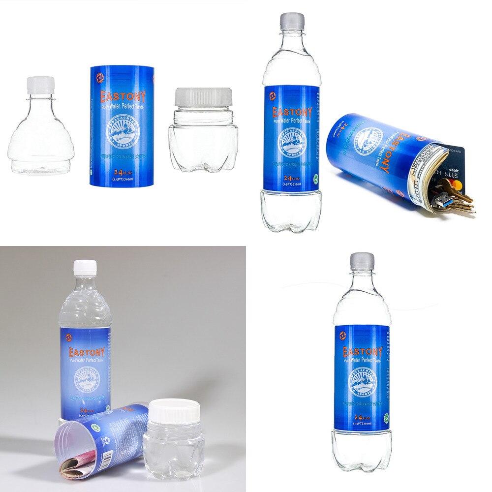 710 مللي زجاجة ماء شكل مفاجأة سر مخفي مخبأ حاوية أمان شكل تحويل خبأ صندوق الأمان البلاستيك خبأ الجرار