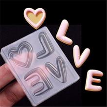 Transparent Liebe Buchstaben Form Silikon Kuchen Form Schokolade Fondant Formen Backen DIY Partei Kuchen Dekorieren Backen Ostern Dekor