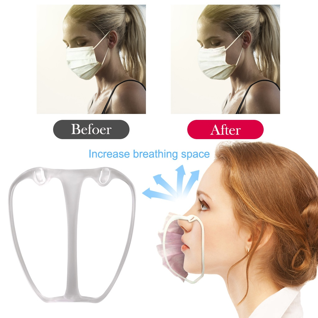 Soporte para máscara bucal 3d, soporte interno de silicona de calidad alimentaria, soporte para máscara que aumenta el espacio de respiración para ayudar a respirar Smoot #3