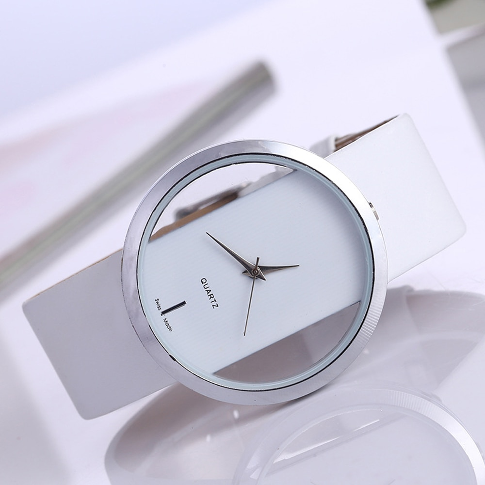 Top Leather Quartz Watch Lady Watches Women Luxury Antique Stylish Round Dress Watch Relogio Feminin