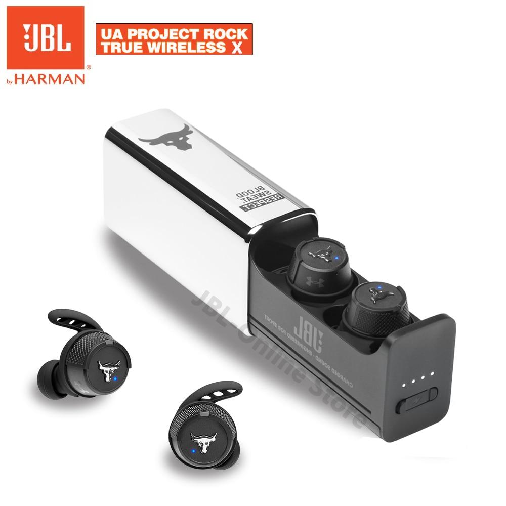 JBL Original UA Project Rock True Wireless X Bluetooth Headsets In-Ear IPX7 Stereo Headphone with Mic Earbuds Sport Earphone