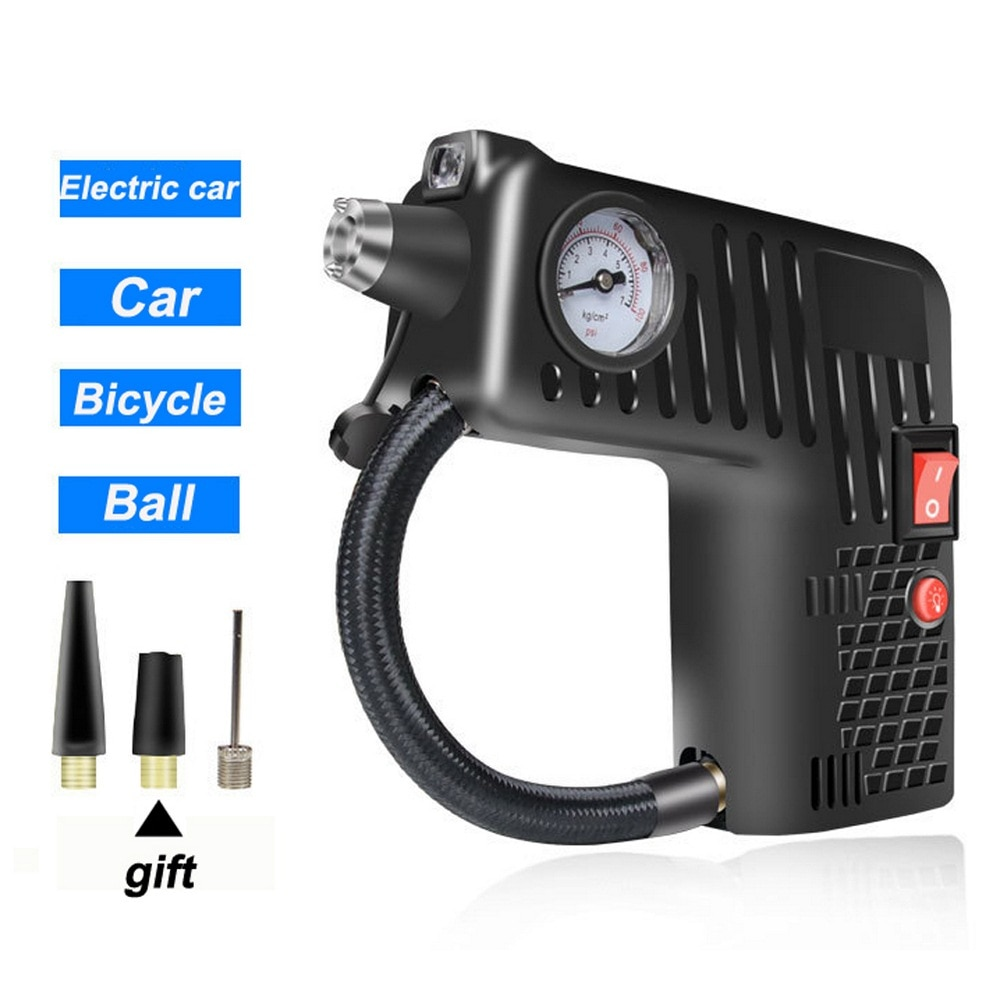 Compresor de aire de coche de 12V, bomba inflable portátil, bomba de inflado, inflador inteligente de neumáticos de coche para emergencia automática