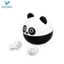 LYMOC New Panda Cartoon Wireless Headsets Bluetooth 5.0 Earphone Touch TWS Auriculares Microphone Ha