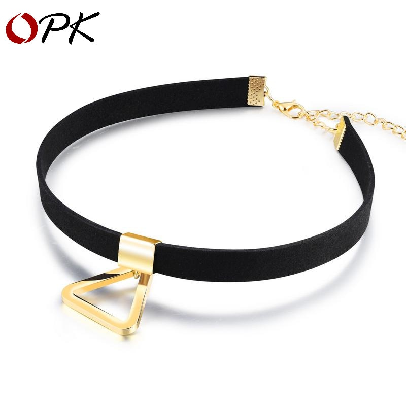 Marca Hanpan Harajuku suéter cadena triángulo corto clavícula cuello cadena joyería
