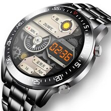 GUOLING 2021 Fashion Full Circle Touch Screen Mens Smart Watches IP68 Waterproof Sports Fitness Watc