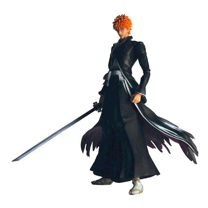 Figuras de acción del Anime Kurosaki Ichigo Getsuga Tenshou, colección de figuras de acción de 26cm en PVC