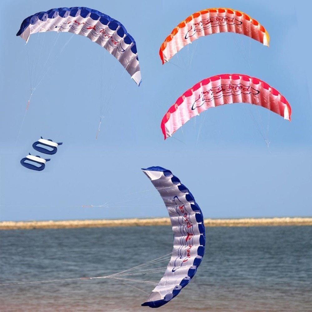 1.4m dupla linha kitesurfing dublê paraquedas macias parafoil surf kite esporte pipa enorme grande atividade ao ar livre praia pipa voando