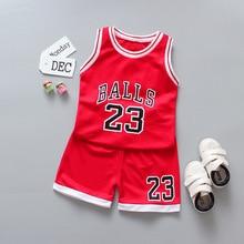 Ensemble de vêtements pour garçons et filles   Uniforme de basket-ball, tenue de sport, 2 pièces, pour enfants, 2020
