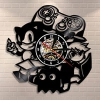 vintage video game wall clock home decor gamepad arcade room wall sign gamers vinyl record wall clock game boys gift idea