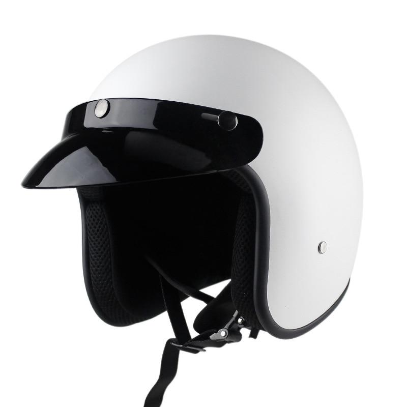 Мотоциклетный шлем Jet, винтажный шлем с открытым лицом в стиле ретро 3/4, мотоциклетный шлем, мотоциклетные шлемы, мопеды, эндуро, шлем