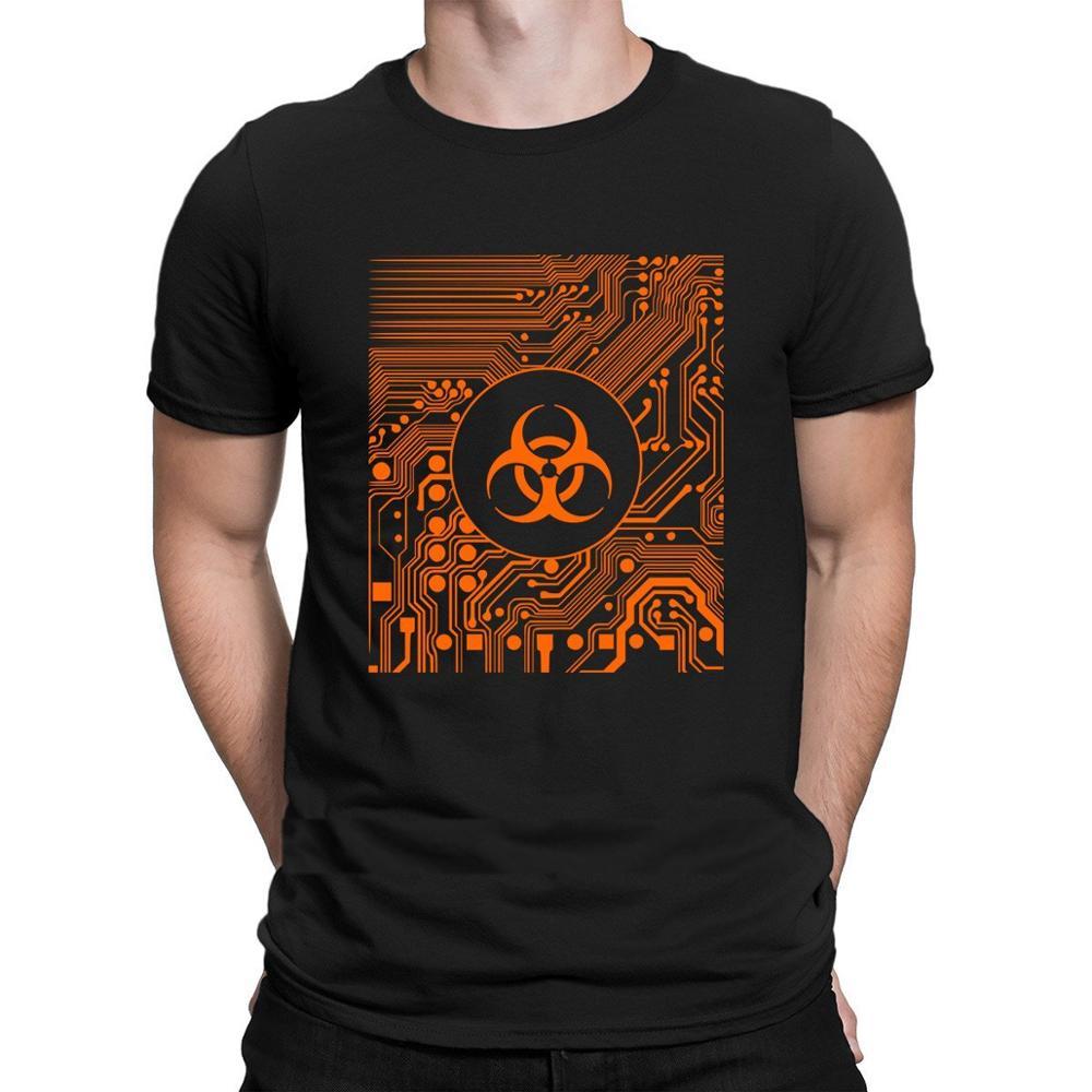 Cyber goth Biohazard tshirt slogan Design Comfortable Round Collar tshirt for men 2020 Costume top tee tee shirt Vintage